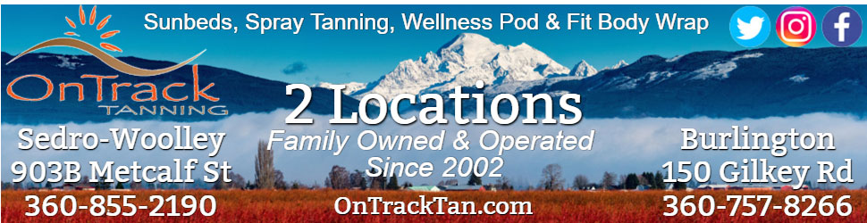 On Track Tanning in Burlington and Sedro-Woolley Washington